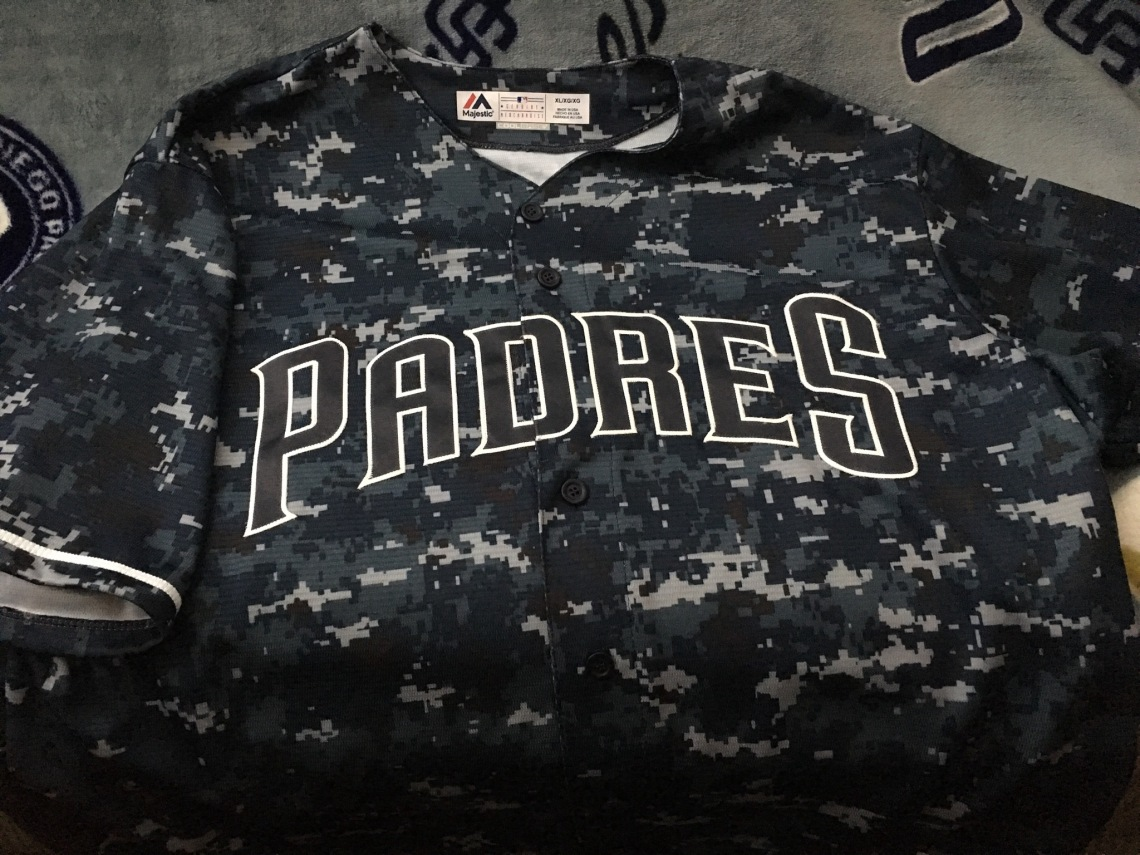 fe1b1497bb3 Jersey Stash  San Diego Padres Navy Sunday Alternate – SD HAT COLLECTORS