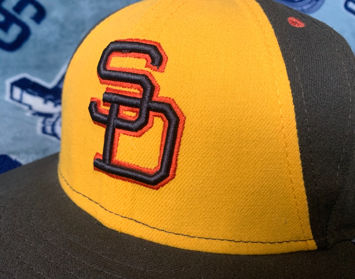 "Capshot  San Diego Padres ""1973-1980"" Custom 59Fifty – SD HAT COLLECTORS 6ae9ff090f2"